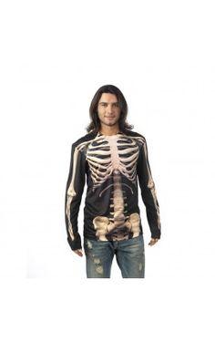 camiseta esqueleto disfraces halloween hombre man