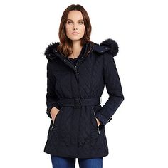 Phase Eight Mistico Diamond Puffer Jacket | Debenhams