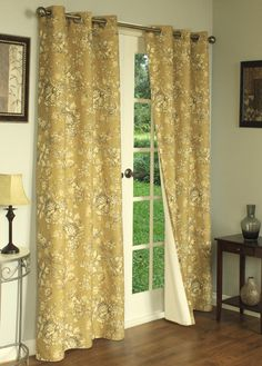 ThermaLogic Hanover Floral Insulated Grommet Top Curtain Panel Pair These floral curtains will keep the cold air out, while doing it in style! Grommet Curtains, Blackout Curtains, Drapes Curtains, Shower Curtains, Thermal Drapes, Light Blocking Curtains, Insulated Curtains, Floral Curtains, Stain Colors