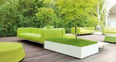 Bench - This series consists of modular banks and planters.