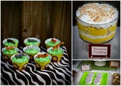 jungle baby shower desserts