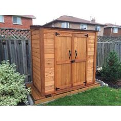 DIY Shed Kit - Garden Shed Plan - How to Build Your Garden Shed Successfully - Wardly Wooden Storage Sheds, Storage Shed Kits, Outdoor Storage Sheds, Garden Tool Storage, Outdoor Sheds, Backyard Sheds, Backyard Storage, Garden Sheds, Barn Storage