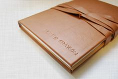 DIY leather journal.