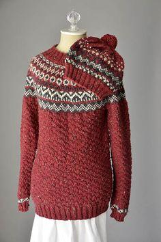 Ravelry: Asheville Sweater and Hat pattern by Amy Gunderson worsted free Sweater Hat, Universal Yarn, Fair Isle Knitting, Knitting Patterns Free, Free Pattern, Free Knitting, Modest Fashion, Knitted Hats, Knit Crochet