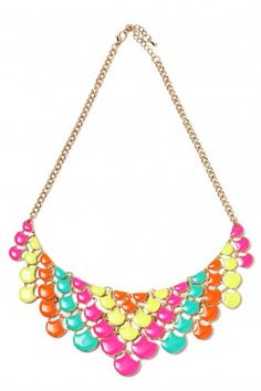 20Dresses.com - Neon Oyster Necklace. <3
