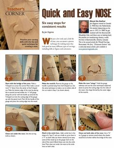 Carving Nose - Wood Carving Patterns and Techniques | WoodArchivist.com