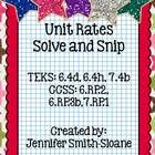 """""""Solve and Snip"""" include Interactive Practice Problems for skills aligned with TEKS and Common Core.    In the Unit Rates Word Problems Solve and Sni..."""