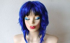 Ramona Flowers hair style wig. Blue and black hair by kekeshop, $124.50