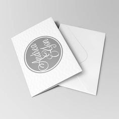 Thank You Cards with Matching Pearlescent Envelopes  Wedding