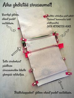 DIY: Pussukka tuplavetoketjulla - Punatukka ja kaksi karhua Sewing Hacks, Sewing Projects, Pencil Case Tutorial, Bra Hacks, Diy Wallet, Handmade Purses, How To Make Handbags, Couture, Fabric Crafts