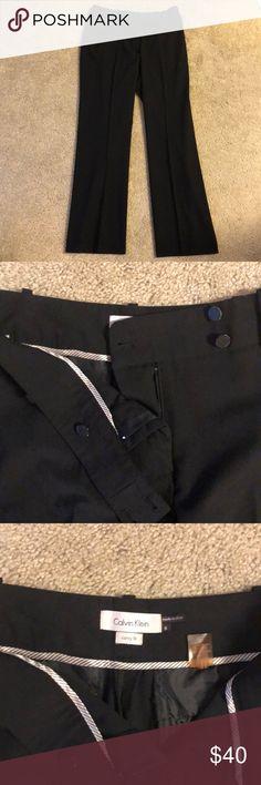 Size 6 Calvin Klein black work pants. Size 6 black work pants from Calvin Klein. Curvy fit and straight leg. Barely worn. Calvin Klein Pants Straight Leg