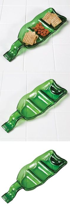 Platters 45503: Recycled Wine Bottle Divided Platter - Green Glass Serving Tray Dish -> BUY IT NOW ONLY: $34.94 on eBay!