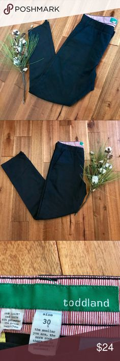 Black chinos from Korean brand Toddland sz 30 EUC These unique black chinos from Korean's Toddland brand are a great basic to add to any closet! Bundle with other items in my closet for the best deal! Toddland Pants Chinos & Khakis