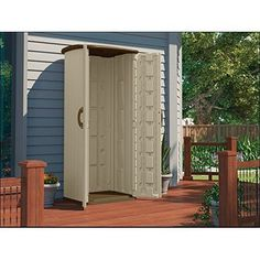 Vertical Utility Shed Double Wall Storage Resin Durable Outdoor Garden Backyard  #Unbranded