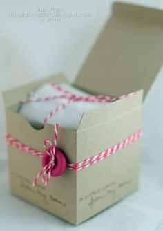 This Pink Rooster: Simples - Kraft Boxes #1