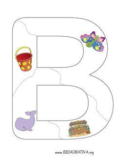 Ideia Criativa - Gi Barbosa Educação Infantil: Quebra - cabeça letra B - Letra em Pedaços