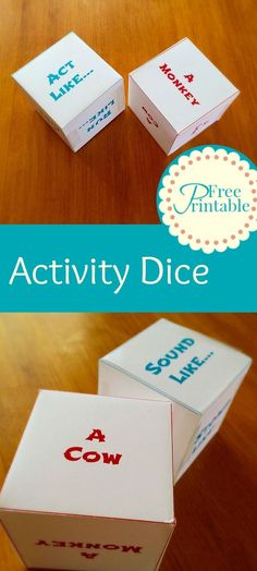 Activity Dice Free Printable - Great for preschoolers and toddlers. http://twitchetts.com/2015/08/activity-dice.html/