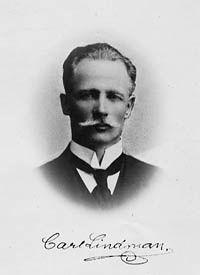 "Carl Axel Magnus Lindman 6 April 1856 in Halmstad - 21 June 1928, was a Swedish botanist and botanical artist, the son of Carl Christian Lindman and Sophie Fredrique Löhr. He is best known for his work ""Bilder ur Nordens Flora"" published 1901-1905. File:Carl axel magnus lindman.jpg"