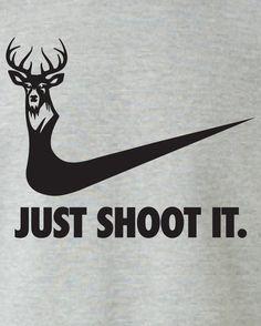 just shoot it hunting buck doe deer funny US duck hoodie hooded sweatshirt Mens Womens Ladies USA Canada wild wildlife moose turkey ML-169BH | MAD-LABS-TEES - Clothing on ArtFire