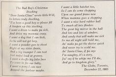 The Bad Boy's Christmas Stocking, The Globe, Dec. 1885 #poem #victorian