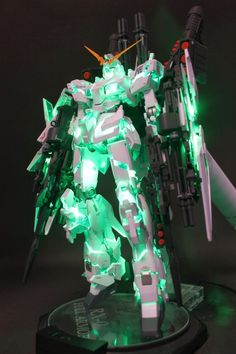 GUNDAM GUY: MG 1/100 Full Armored Unicorn Gundam - Customized Build w/ LEDs
