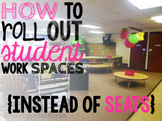 "how to roll out student work spaces {alternative seating} - If you are going to alternative seating for the first time, this is a great post to guide you through what you might want to do so you and your students don't get overwhelmed by the ""newness""!"