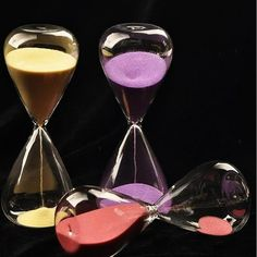 Colorful sand glass sand glass hour glass timer 5/10/30/60 minutes 8 Colors # #UNBrand