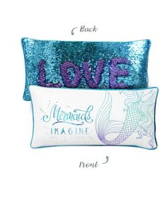 9f992f4cc4df4 IMAGINE Mermaid Pillow w  Reversible Sequins Back
