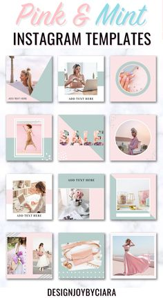 Instagram Post Templates - Pink Theme, Instagram Posts, Instagram Branding Bundle, Social Media Templates, Canva Templates, Feminine Instagram Templates, social media marketing, social media tips #pink #grey #instagramtemplates #instagram #instagramposts #igposttemplates #templatesinstagram #instagrambundle #instagramfeed