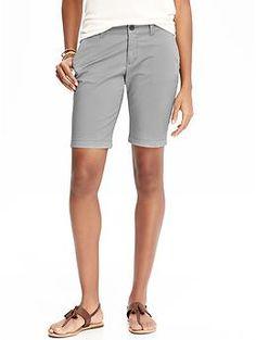 "Women's Stretch Twill Bermuda Shorts (10"") | Old Navy $24"