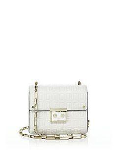 Luana Italy Anais Mini Leather Shoulder Bag - White