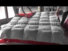 Come inserire il piumino nel copripiumino in pochi secondi - YouTube