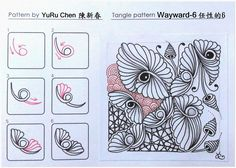 MY Tangle Pattern自創圖樣-060 | Wayward-6 pattern by YuRu Chen 27.03.17 | Zentangle