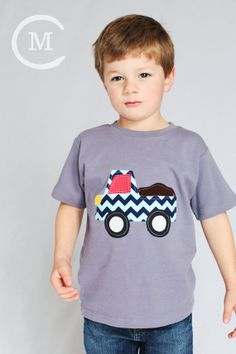 Dumptruck  Boy Shirt  Applique Shirt  You by roundthebendagain, $24.00