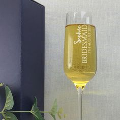 Personalised bridesmaid wedding champagne flute personalised wedding gift idea Wedding Champagne Flutes, Champagne Party, Crystal Champagne, Personalized Wedding Gifts, Godparent Gifts, Hen Party Gifts, Bride Gifts, Wedding Bridesmaids, Christening Gifts