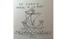 «Fluctuat nec mergitur», Joann Sfar a repris la devise de Paris en traduisant: «ça signifie merde à la mort».