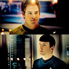 Spock and Kirk...I enjoy these movies way too much. ;)