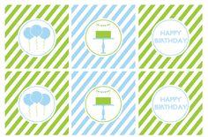 Dicas pra Mamãe: Kit de festa de menino verde e azul - Gratuito