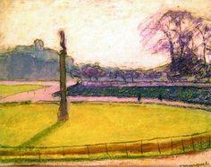 The Luxembourg Gardens, Paris (pastel on paper), Marquet, Albert (1875-1947)