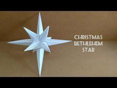 Origami Christmas Star/Bethlehem Star/ oint Star 折纸圣诞星 Origami 3d Star, Origami Christmas Star, Origami Ball, Retro Christmas, Origami Paper, Christmas Crafts, Origami Envelope, Origami Boxes, Origami Leaves
