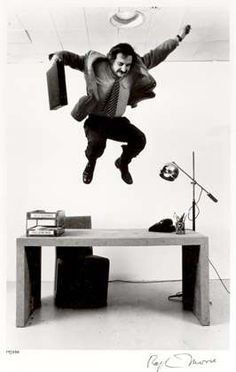 "Frank Gehry ""Testing"" His Furniture Design, NYC, 1970 by Ralph Morse"