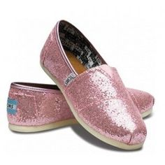 $29.58!! Toms Glitter For Women Pure Pink Shinning Sale on toms outlet.