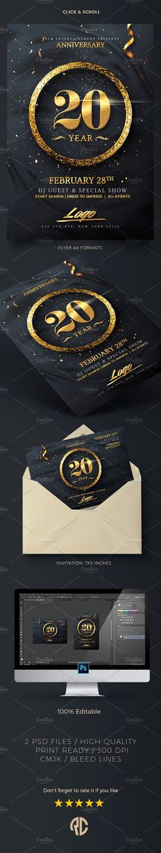 Anniversary Flyer Template Psd Download Here Https