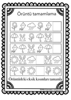 217 En Iyi Oruntu Goruntusu 2020 Matematik Okul Oncesi Ve Okul