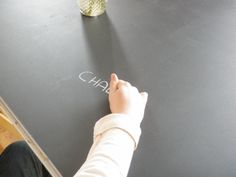Chalkboard table for kids playroom!  DIY!!