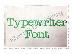 """$1.95 1 1/2"""" Inch Size ONLY Typewriter Machine Embroidery Font"""