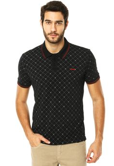 Camisa Polo Sommer Mini Caveira Preta - Marca Sommer Mens Clothing Brands, Golf Outfit, Cycling Outfit, Men Looks, Neck T Shirt, Printed Shirts, Shirt Designs, Men Casual, Menswear