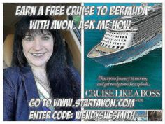 Interested in joining Avon? Join my team and get great training so that you can be successful.  @wendys_avon Avon has some great incentives -- you can earn a cruise to Bermuda #beautyboss #entrepreneur #boss #wahm #onlinesalespro
