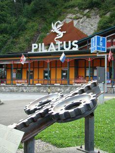 Alpnachstad (Kanton Obwalden) - Train station of the Pilatus Railway / Bahnhof der Pilatusbahn / Gare du chemin de fer du Pilate