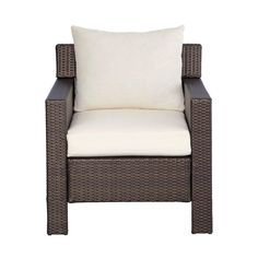 Hampton Bay Beverly Patio Deep Seating Chair with Cushion Insert (Slipcovers Sold Separately) at The Home Depot - Mobile Outdoor Rooms, Outdoor Chairs, Outdoor Furniture, Outdoor Decor, Beige Cushions, Cushion Inserts, Diy Patio, Furniture Making, Slipcovers